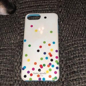 Kate spade polka dot  iPhone 6 Plus 7 Plus